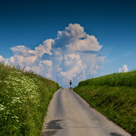 And go ahead by Jarosław Frycz - Landscapes Travel ( clouds, path, road, nature, landscape )