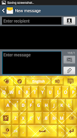 Screenshot of GO Keyboard Gold Glow Theme