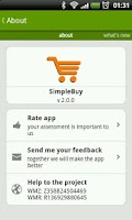 Screenshot of SimpleBuy - shopping list
