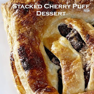 Stacked Cherry Puff Pastry