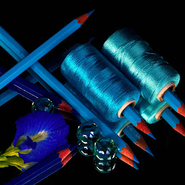 Blue fever by Asif Bora - Artistic Objects Other Objects ( blue, pencil, object )