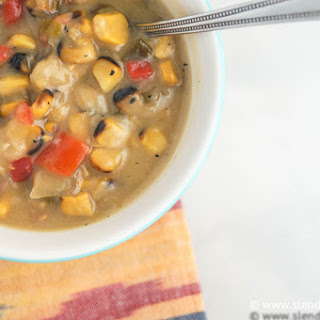 Slow Cooker Roasted Corn Chowder