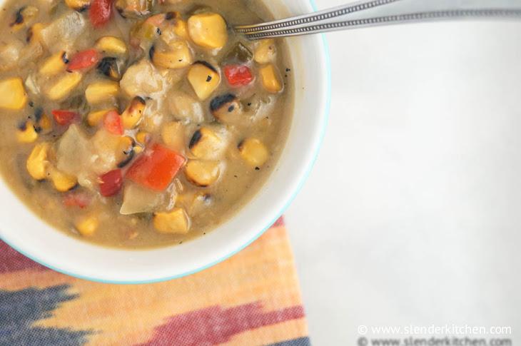 Slow Cooker Roasted Corn Chowder Recipe | Yummly