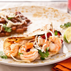 Tomatillo Shrimp Fajitas