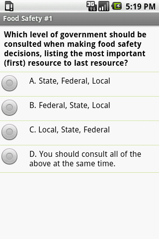 Food Safety Exam Prep
