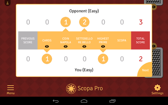 Scopa Pro APK screenshot thumbnail 14