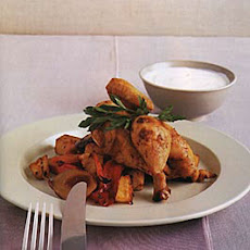 Paprika-Roasted Cornish Hens and Vegetables