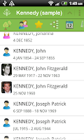 Screenshot of FamilyGTG (free) - Family Tree