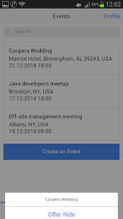 iRideShare - rides for events - screenshot