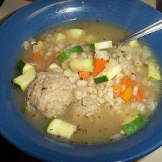 Italian Chicken Meatball Soup With Barley