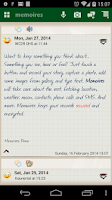 Screenshot of Memoires: the Diary