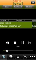 Screenshot of KRCL Public Radio App