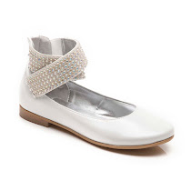 Step2wo Shavon - Glitzy Diamanté Slip On STRAP SHOE