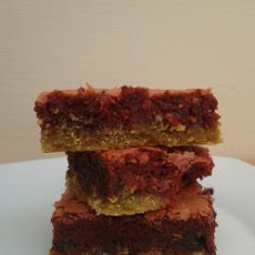 Red Velvet Brownie Bars