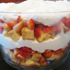 White Chocolate Strawberry Trifle