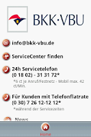 Screenshot of BKK VBU Hausmittel App