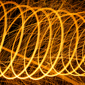 Fire, walk with me by Steve Outing - Abstract Fire & Fireworks ( fire circles, abstract, fire patterns, circles, steel wool photography, steel wool, fire art, sparks )