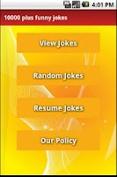 Screenshot of 10,000 plus funny jokes