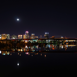 Little Rock by Brian Box - City,  Street & Park  Skylines ( arkansas photographer, little rock, nightscene, city life, long exposure, cityscape, nightscapes, arkansas )