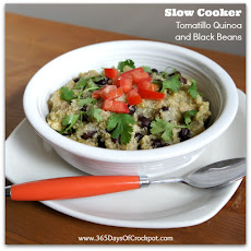 Slow Cooker Tomatillo Quinoa and Black Beans