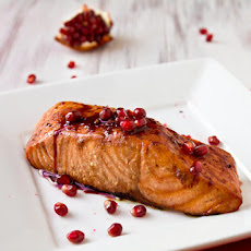Grilled Pomegranate-Glazed Salmon