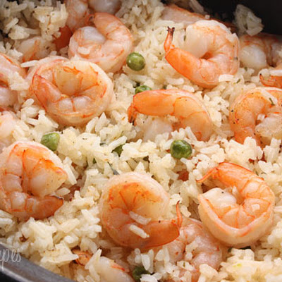 Shrimp, Peas and Rice