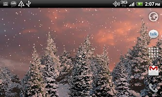 Screenshot of Snowfall Free Live Wallpaper