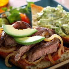 Cinco De Mayo Chile Cheese Steak With Avocado