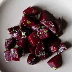 Jamie Oliver's Smoked Beets (with Lemon-Thyme Cottage Cheese Dressing)