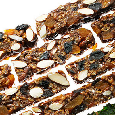 No-bake Chewy Fruit and Nut Bars