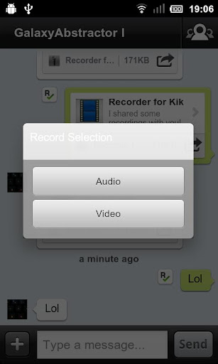 【免費通訊App】Recorder for Kik-APP點子
