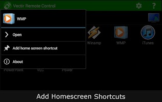 Screenshot of Vectir PC Remote Control