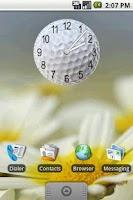 Screenshot of Golf Ball Clock Widget 2x2