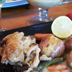 Roasted Chicken With Spring Vegetables and Lemon-Honey Sauce