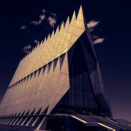 Air Force Academy by Mike Hatch - Buildings & Architecture Places of Worship ( history, clouds, color, tourism, architecture )