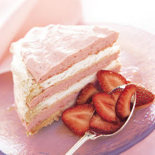 Frozen Vacherin Torte with Rhubarb Cream and Strawberries