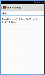 Bible Names and Meanings - screenshot