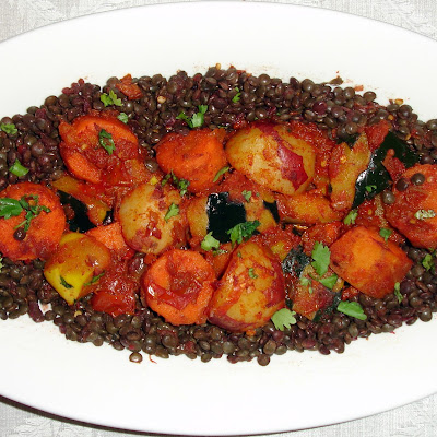 Autumn Vegetable Tagine with Lentils
