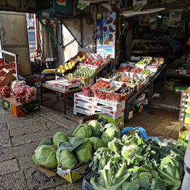 Nazareth Produce Shop by Steven Aicinena - City,  Street & Park  Markets & Shops ( nazareth, israel, produce )