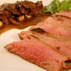 Flat Iron Steak with Mushrooms