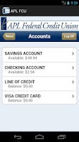 Screenshot of APL Federal Credit Union