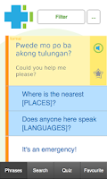 Screenshot of Learn Tagalog Phrasebook