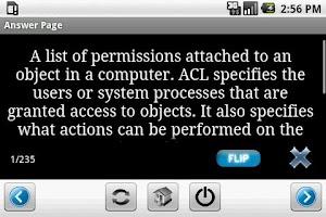 Screenshot of CompTIA Security+ Flashcards