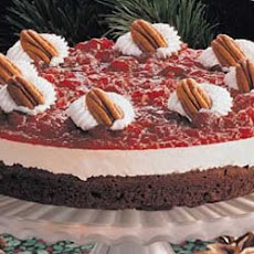 Cranberry Brownie Torte