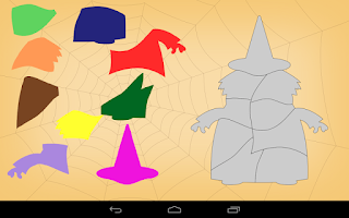Screenshot of Kids Shape Puzzle Halloween