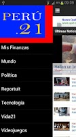 Screenshot of Diario Perú 21