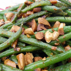 Green Beans with Crushed Almonds
