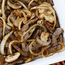 Quick Skillet Steak with Onions and Mushrooms