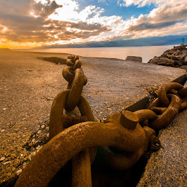 sunset and chain by Eseker RI - Landscapes Sunsets & Sunrises (  )