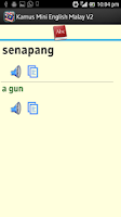 Screenshot of Kamus Mini English Malay V2